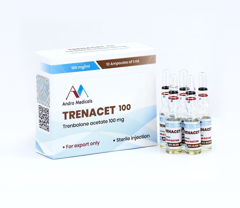 Trenacet 100mg — Trenbolone acetate 100mg by Andro Medicals